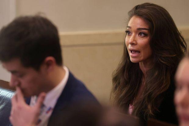 Chanel Rion, la correspondante de OANN à la Maison-Blanche, le 19 mars 2020.