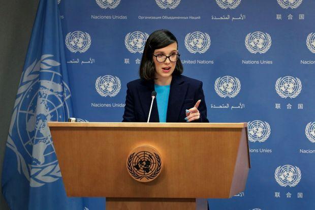 Changement de look à la tribune de l'Onu en novembre 2018. Millie a été nommée plus jeune ambassadrice de bonne volonté de l'histoire de l'Unicef