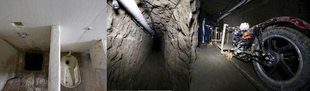 Le 11 juillet 2015, la caméra de surveillance de la prison Altiplano, au Mexique, filme les derniers instants d'El Chapo dans sa cellule. Il se rend alors derrière le mur de sa douche et ne réapparaît pas. Les gardiens y découvriront un trou sous le bac à douche, porte d'entrée d'un tunnel de 1 500 mètres creusé par ses complices. Une moto posée sur des rails lui permet de s'échapper. La galerie, équipée d'un système d'éclairage et de ventilation, débouche dans un bâtiment en construction au milieu des champs. Le 8 janvier 2016, il est arrêté dans un hôtel de Los Mochis au Mexique.