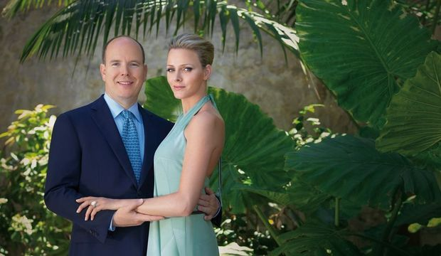 Charlene et Albert photo officielle des fiançailles-