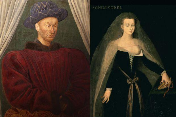 Portraits de Charles VII et d'Agnès Sorel, conservés au château de Loches