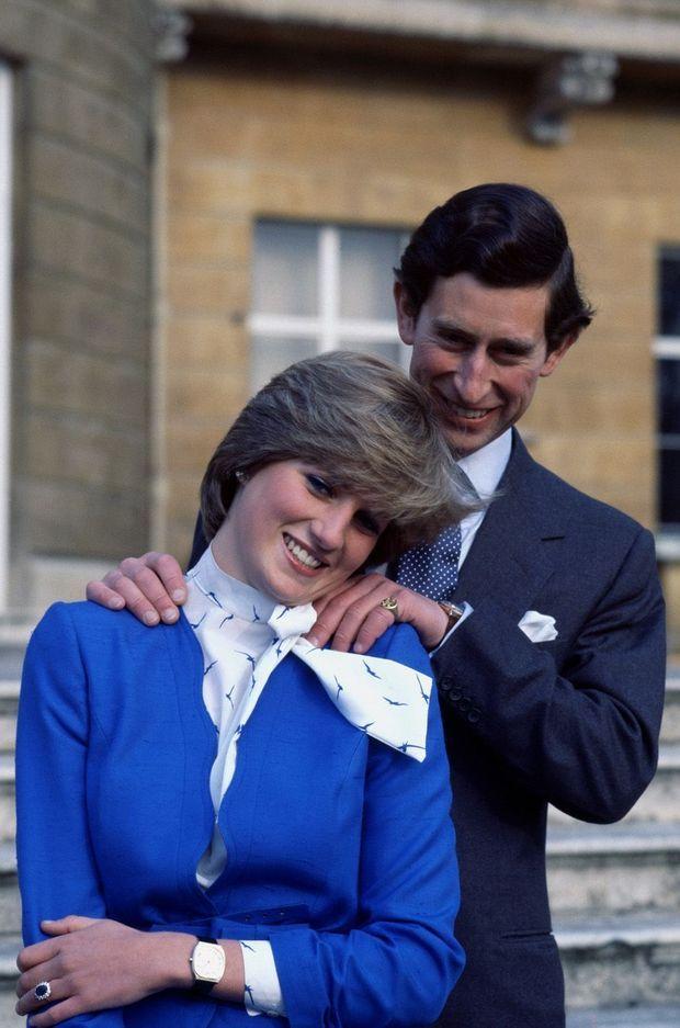 Les fiançailles de Diana Spencer et de Charles Windsor en 1981.