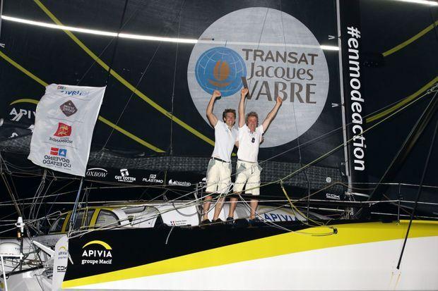 Charlie Dalin et Yann Eliès, les derniers vainqueurs de la Transat Jacques-Vabre