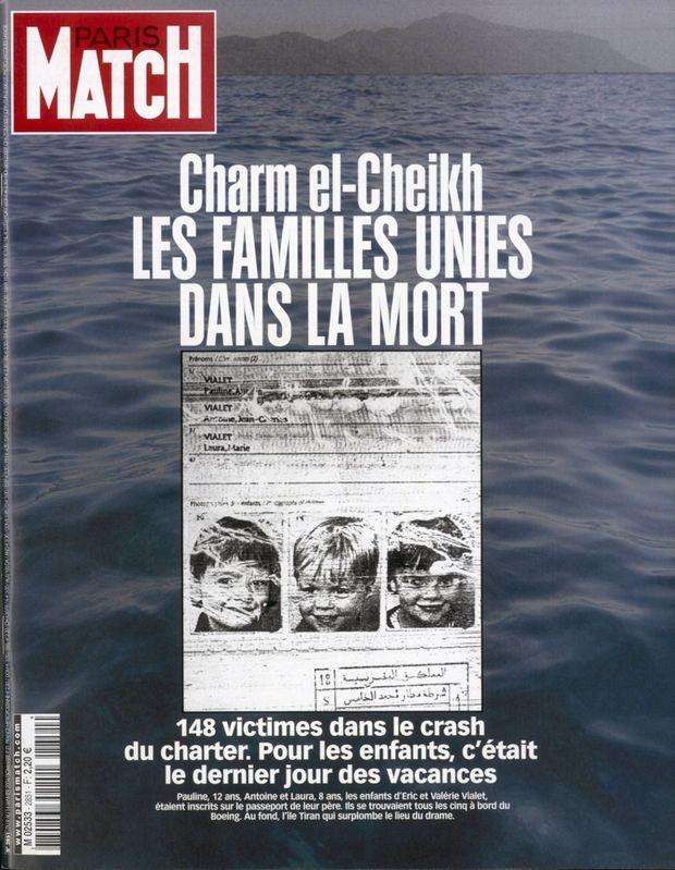 « Charm el-Cheikh, les familles unies dans la mort. » - Paris Match n°2851, 8 janvier 2004.