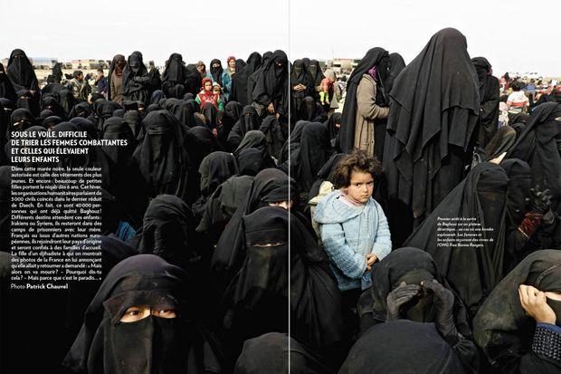 Une photo de Patrick Chauvel, en double page dans Paris Match, sur Baghouz, dernier réduit de l'Etat islamique.