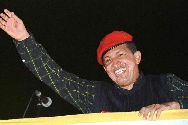 Hugo Chavez lors de la campagne présidentielle, en 1998.