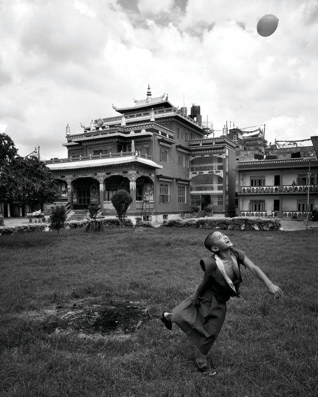 Le jeu devant le monastère de Chemrey, au Ladakh