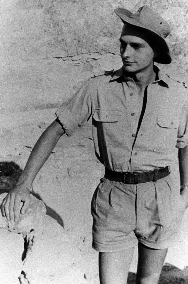 Jacques Chirac lors de son service militaire en Algérie.