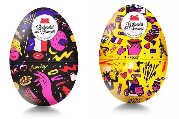 Les oeufs de Pâques vu par Le Chocolat des Français.