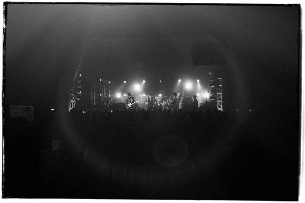 La scène du Fonda Theatre de Los Angeles.