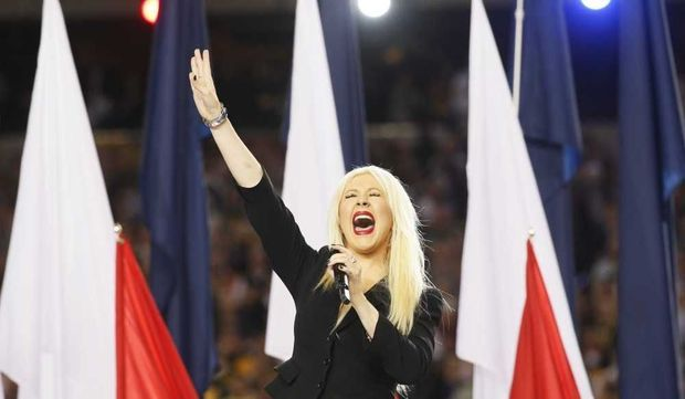 Christina Aguilera au Super Bowl 2011-