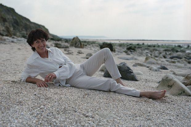 Christine Deviers-Joncour à Trouville en 1999.