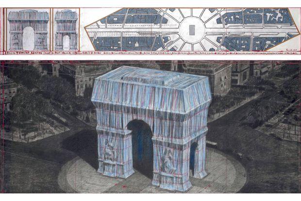 Le projet de Christo à l'Arc de Triomphe.