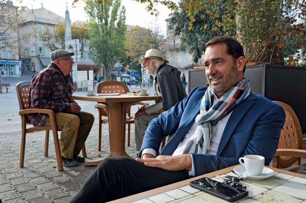Christophe Castaner à «son QG», le Café de l'hôtel de ville.