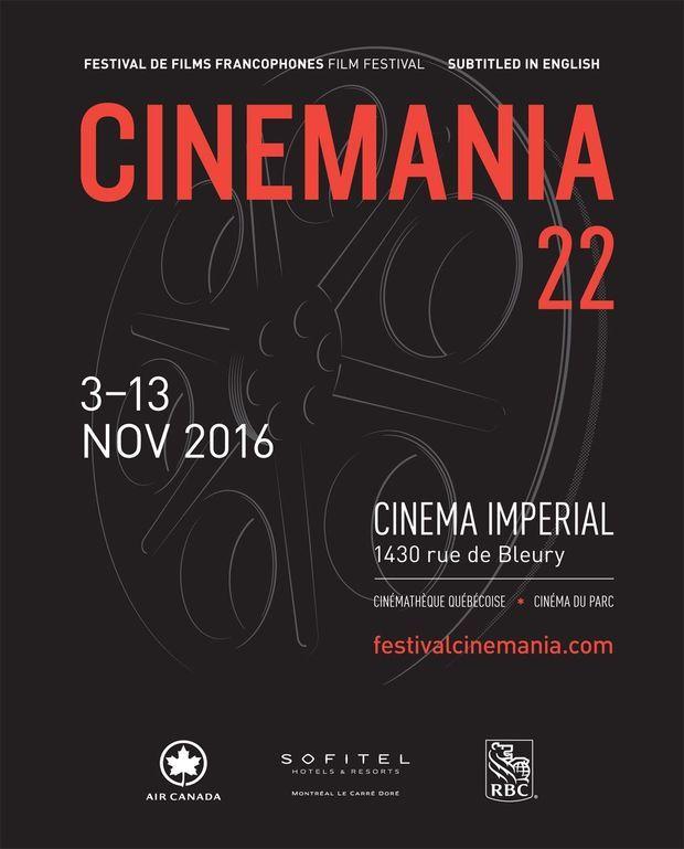 L'affiche du festival Cinemania 2016.