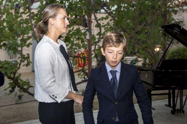 La princesse Claire de Belgique et le prince Aymeric à La Hulpe, le 16 septembre 2017