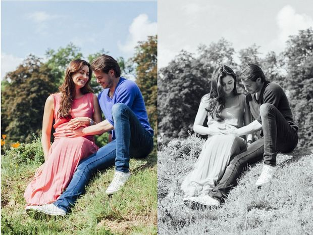 Claire, enceinte, et Felix
