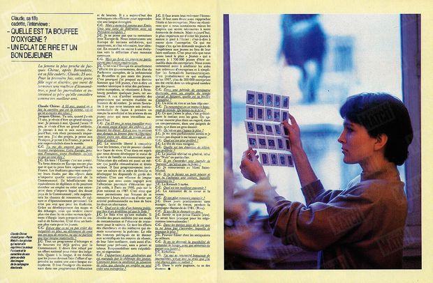 « Claude Chirac choisit pour Paris Match les photos qui, selon elle, expriment le mieux l'univers et le caractère de son père au-delà des images de la campagne électorale. » - Paris Match n°2029, 15 avril 1988