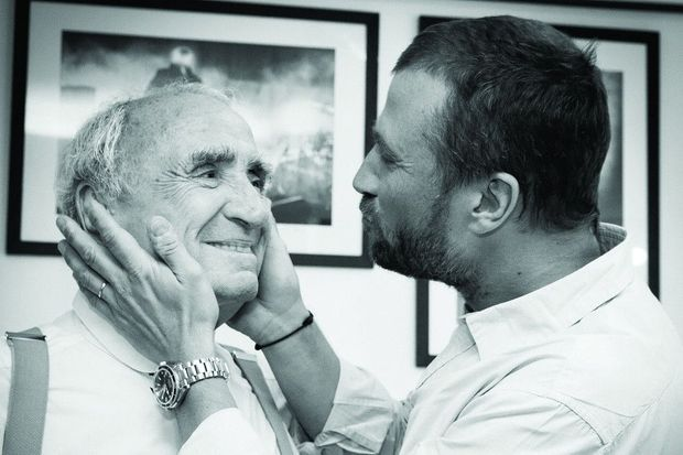 Claude et Alexandre en 2007. Même sourire, même regard, même passion. Ils jouent alors ensemble dans « Mon père avait raison ».