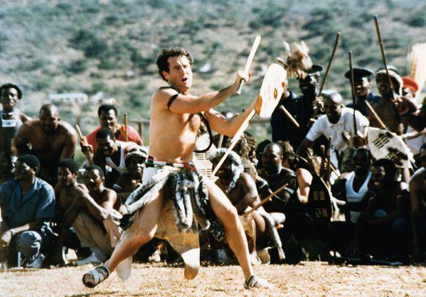 Johnny Clegg en Afrique du Sud en 1990.