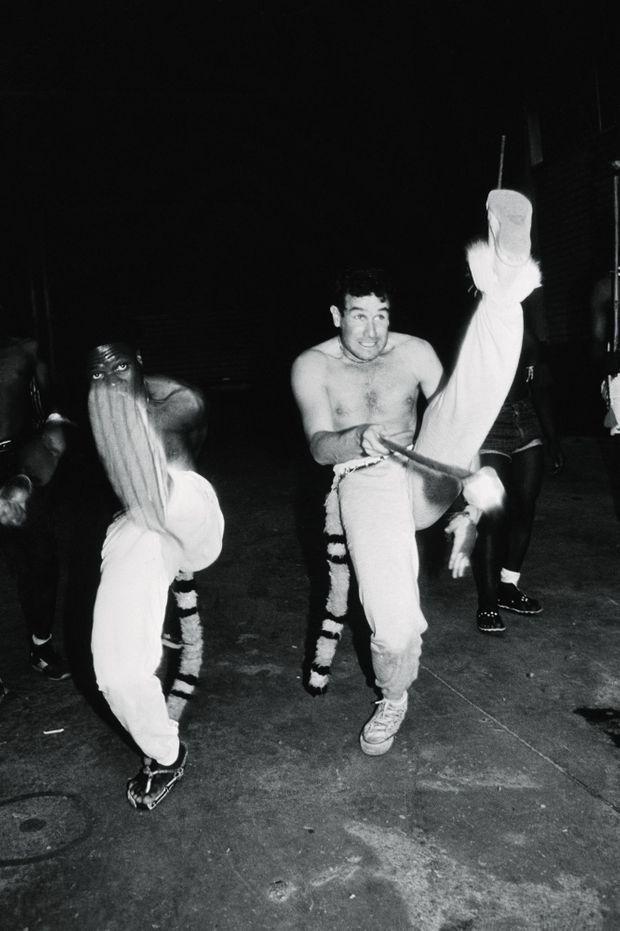 Johnny Clegg et Sipho Mchunu en 1985.