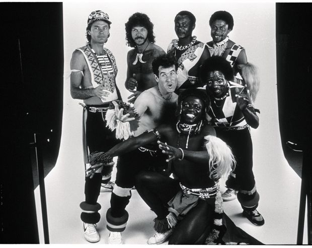 Johnny Clegg et son groupe Juluka en 1985.