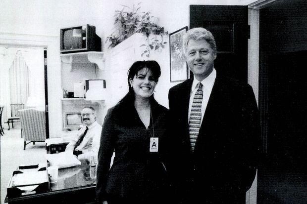 Bill Clinton et Monica Lewinsky en novembre 1995 à la Maison Blanche.