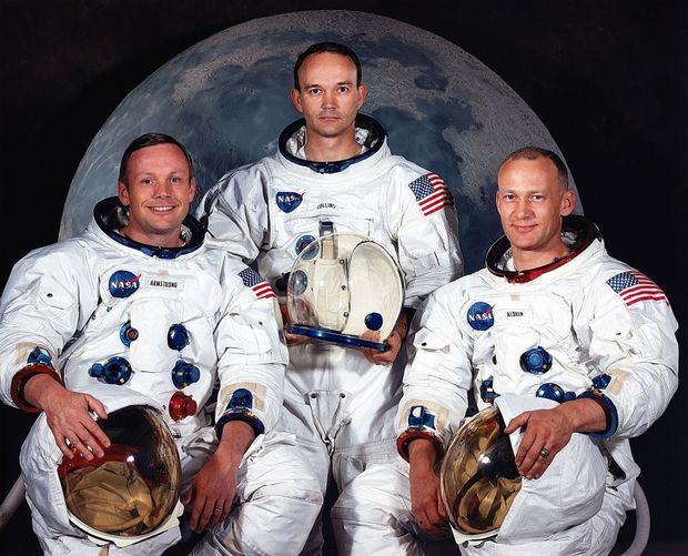 "La mission Apollo 11 : Neil Armstrong, Michael Collins et Edwin ""Buzz"" Aldrin"