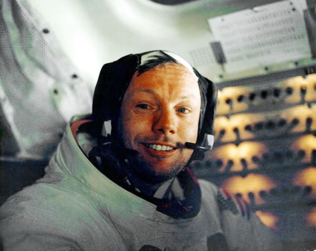 Neil Armstrong, sur le chemin du retour.