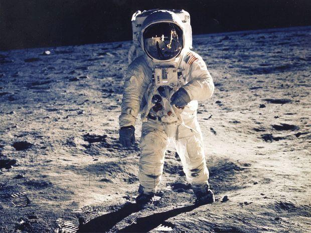 Buzz Aldrin sur la Lune.