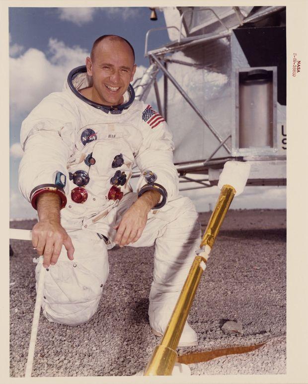 Alan Bean (Apollo 12) en septembre 1969, quelques semaines avant le décollage.