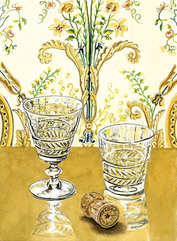 Le verre à pied Marie-Antoinette et le gobelet Louis XVI