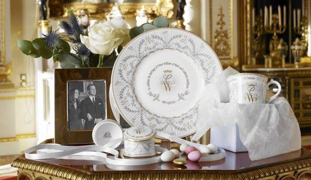 Collection officielle de vaisselle William et Kate-