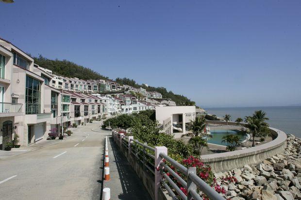 Vue générale de l'île de Coloane, près de Macao, où Kim Jong-nam, fils du leader nord-coréen Kim Jong-il, a installé femme et enfants.