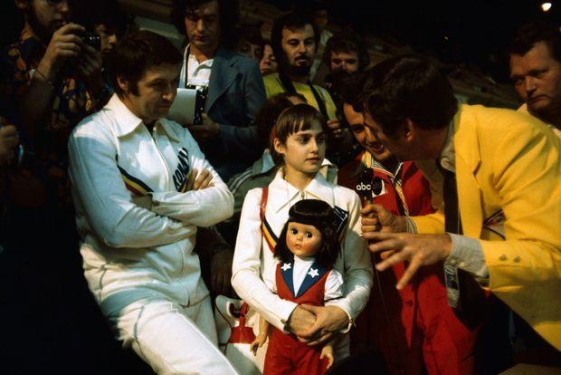Nadia Comaneci, superstar des Jeux olympiques d'été de 1976 à Montréal.