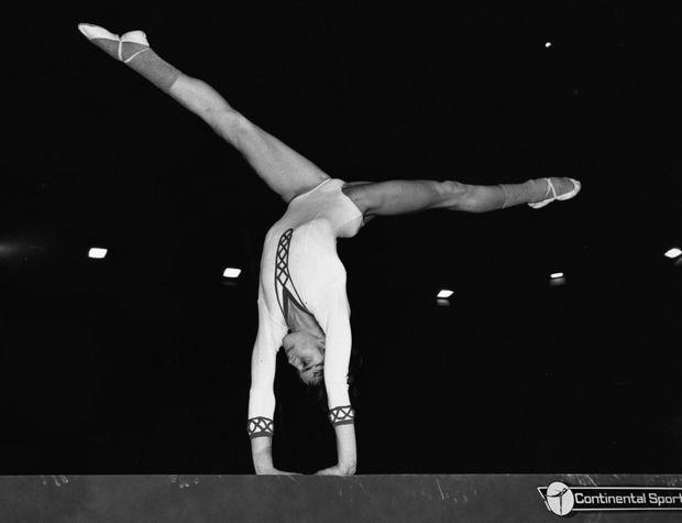 Nadia Comaneci en 1975.