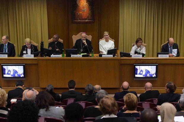 La princesse Charlène de Monaco lors de la 30e conférence internationale du Conseil pontifical pour la Pastorale de la santé au Vatican, le 21 novembre 2015