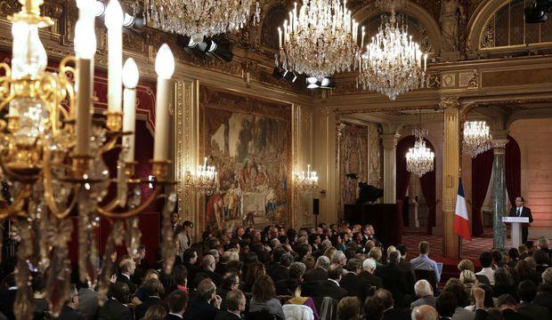 Conférence de presse Hollande Elysée-