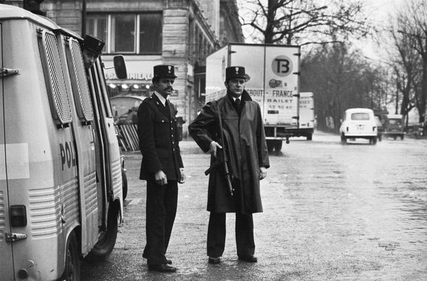 Mesures exceptionnelles de contrôle dans Paris pour retrouver le baron Edouard-Jean Empain, le 24 janvier 1978.