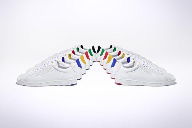 Les sneakers Blason du coq sportif.