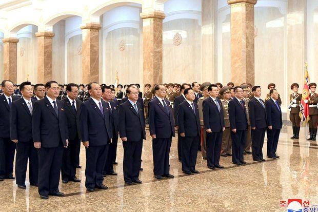 Célébrations de l'anniversaire de Kim Il Sung, à Pyongyang, le 15 avril 2020. Kim Jong Un était absent.