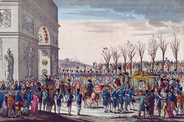 La procession de mariage de Napoléon Ier et Marie-Louise sur les Champs-Elysées, anonyme 1810 (collection privée)