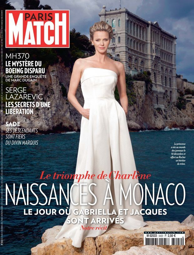 Charlène de Monaco, en couverture de Paris Match cette semaine, par la photographe Vanessa Von Zitzewitz.