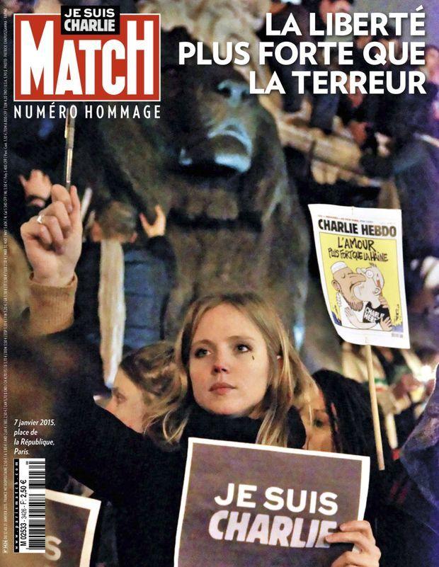 « Je suis Charlie : la liberté plus forte que la terreur » - Paris Match n°3426, 12 janvier 2015