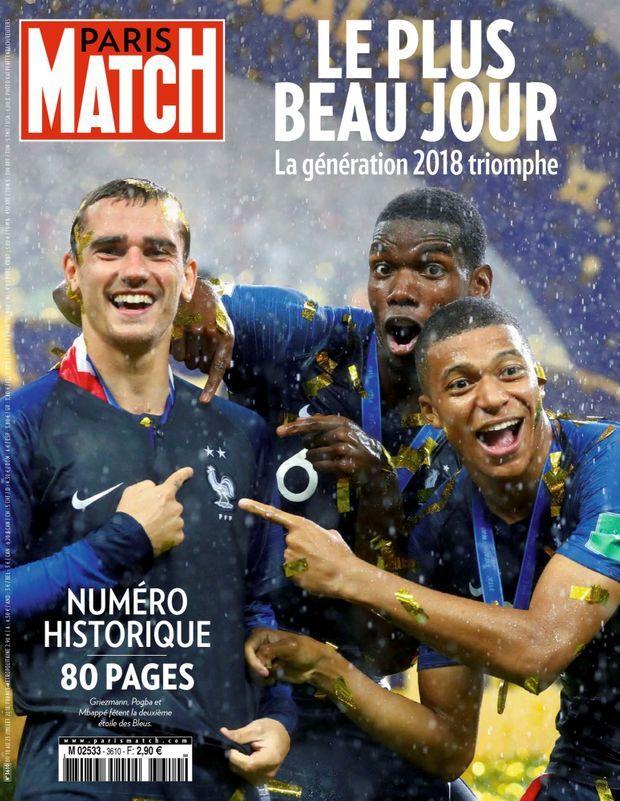 « Les Bleus : le plus beau jour » - Paris Match n°3610, 18 juillet 2018.