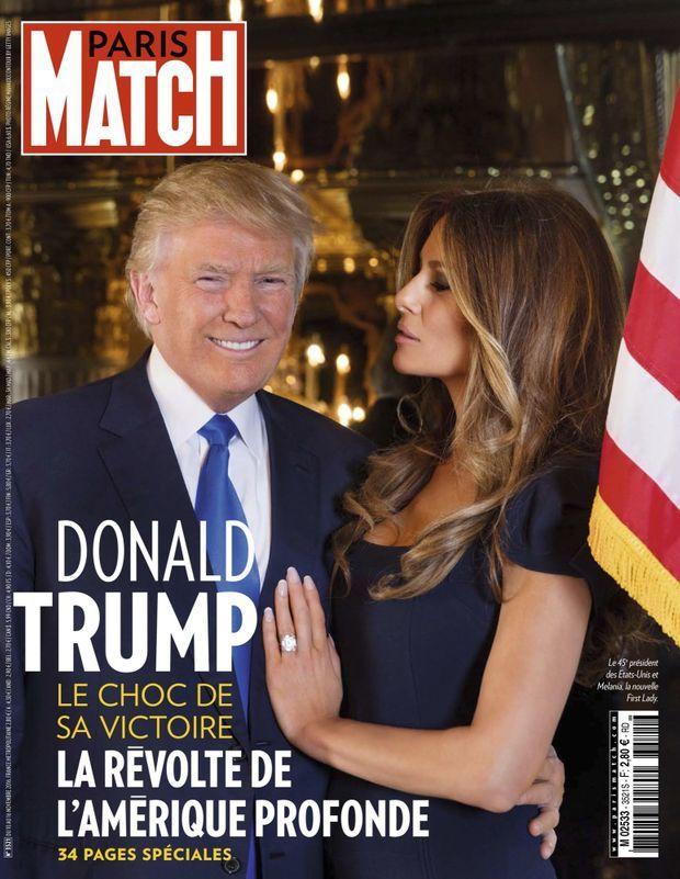 « Donald Trump, le choc de sa victoire » - Paris Match n°3521, 10 novembre 2016.