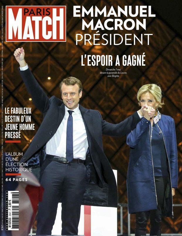 « Emmanuel Macron président » - Paris Match n°3547, 10 mai 2017.