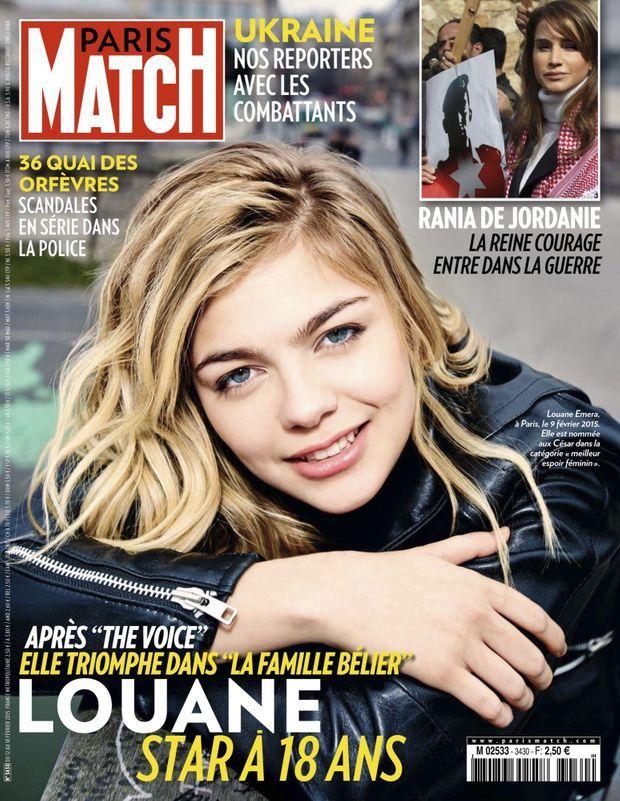 « Louane, star à 18 ans » - Paris Match n°3430, 12 février 2015.