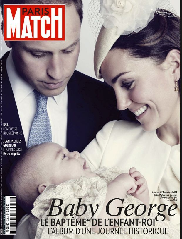 « Baby George, le baptême de l'enfant-roi » - Paris Match n°3363, 30 octobre 2013.