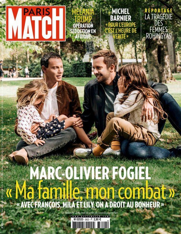 « Marc-Olivier Fogiel : 'Ma famille, mon combat' » - Paris Match n°3622, 11 octobre 2018.